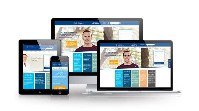Diseño web en responsive para sector salud. Clínica Baviera