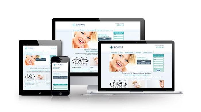 Desarrollo web en WordPress para sector salud. Quali Medic