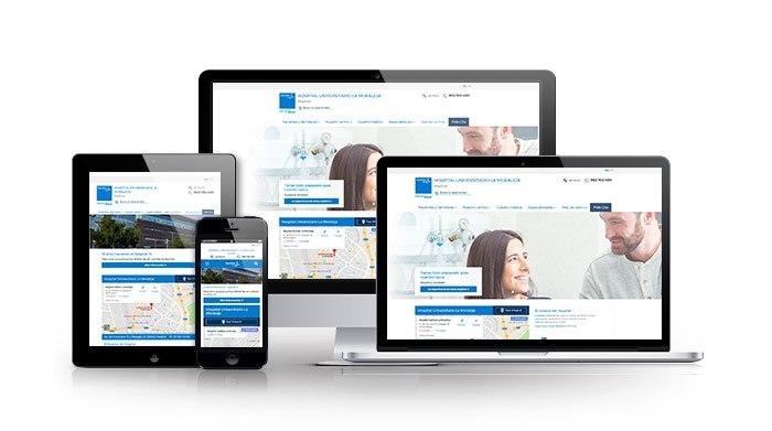 Desarrollo web para sector salud.Hospitales de Sanitas