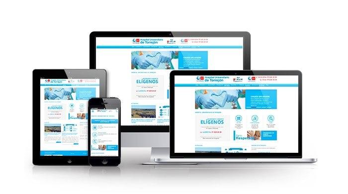 Desarrollo web para sector sanitario. Hospital Universitario Torrejón