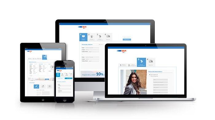 Rediseño web para sector mensajería. SEUR