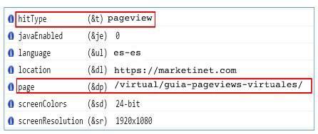 Páginas Vistas Virtuales en la Consola de GA Debugger