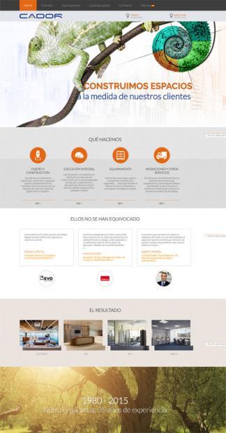 Web corporativa en WordPress para CADOR