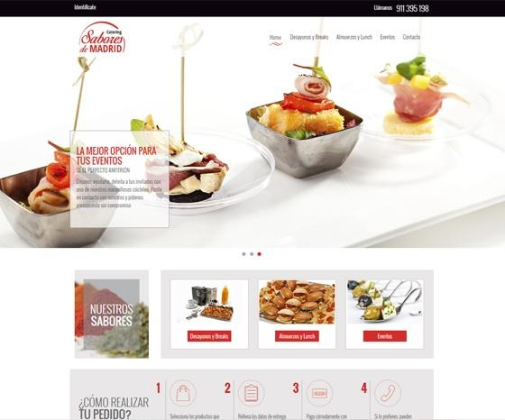 Home web Sabores de Madrid