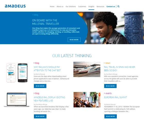 Inbound Marketing Amadeus Rail