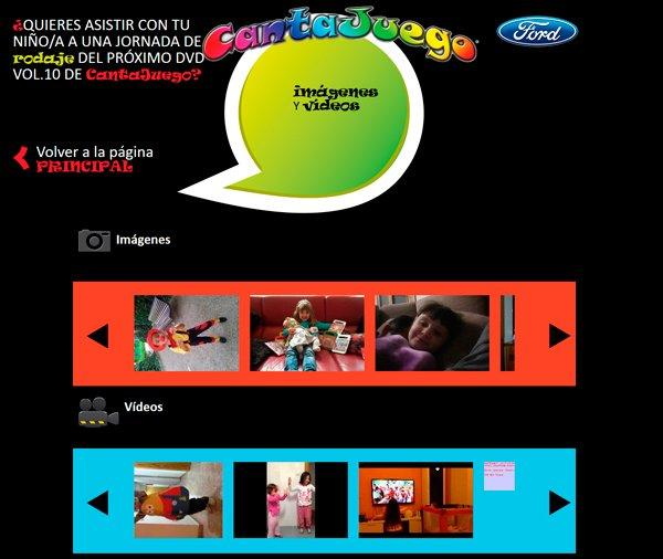 Micro site responive cantajuegos