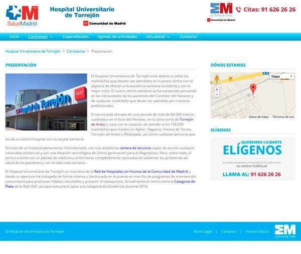 Hospital Torrejón - Presentación