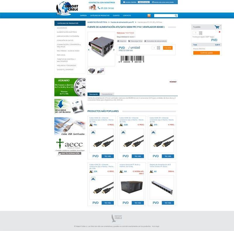 Tienda Online Importcable