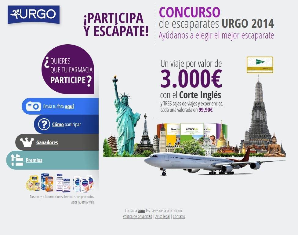 Landing Promocional Laboratorios URGO