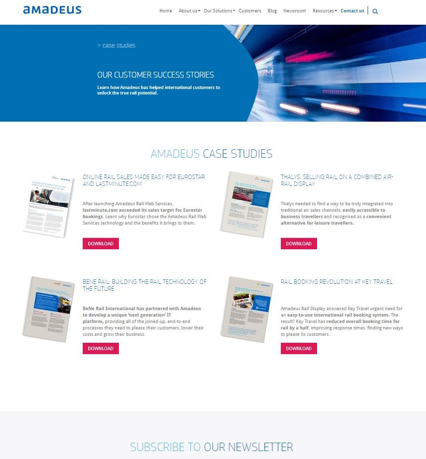 Amadeus Rail - Case Studies