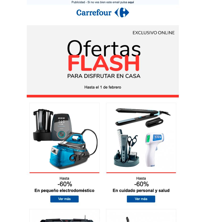 Maqueta de email marketing Carrefour