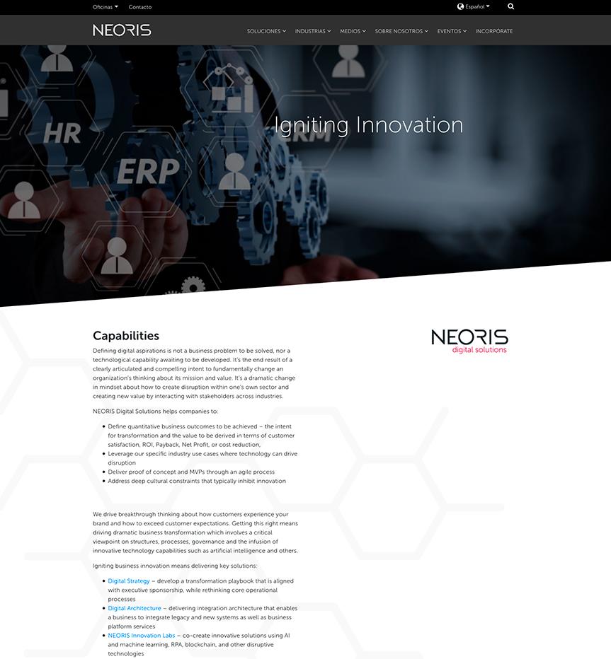 Neoris web innovación