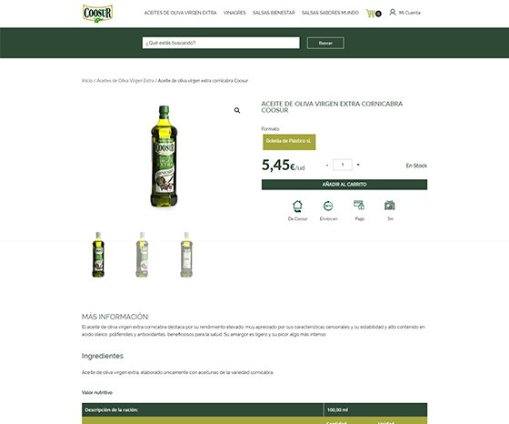 Tienda ecommerce coosur woocomerce - Ficha Producto