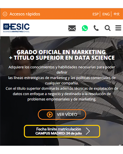 Esic Web Mobile First - Ficha
