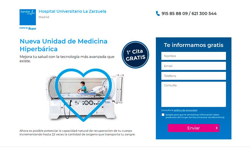 Medicina hiperbárica Sanitas