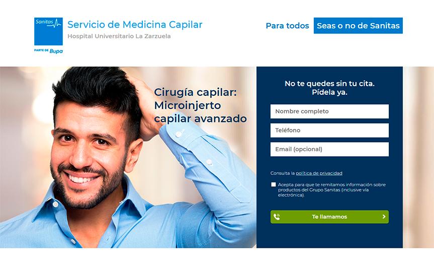 Cirugía Capilar Sanitas