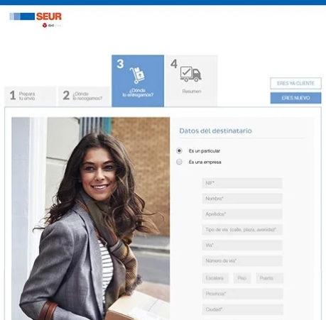 Rediseño web para sector mensajería | SEUR