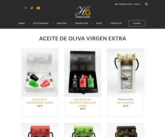 Tienda ecommerce hacienda Guzmán - listado