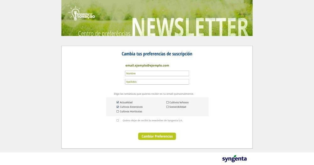 Centro preferencias de comunicación - Ampscript Salesforce Marketing Cloud