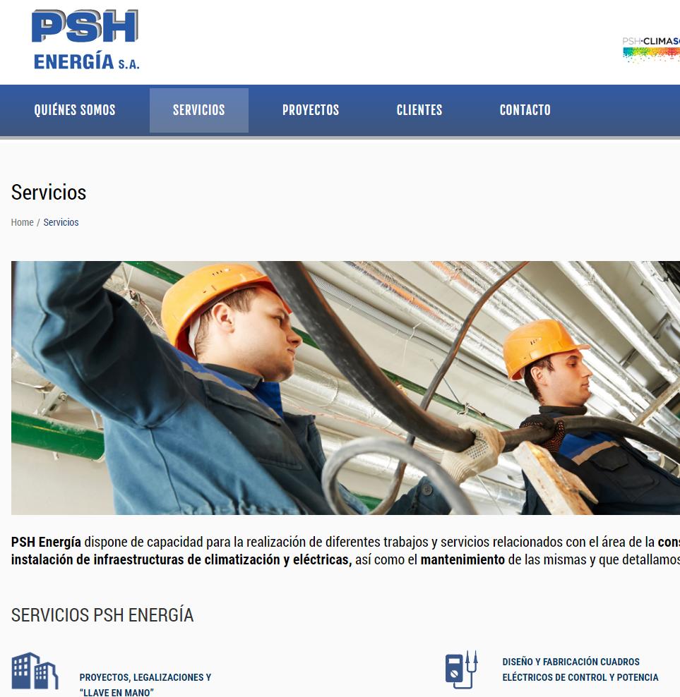 Desarrollo WordPress para PSH Energía