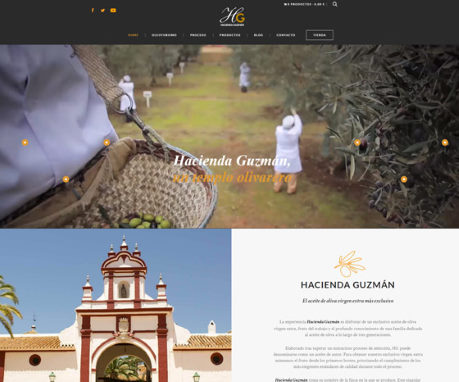 Tienda Online con Woocommerce sector alimentación | Hacienda Guzmán