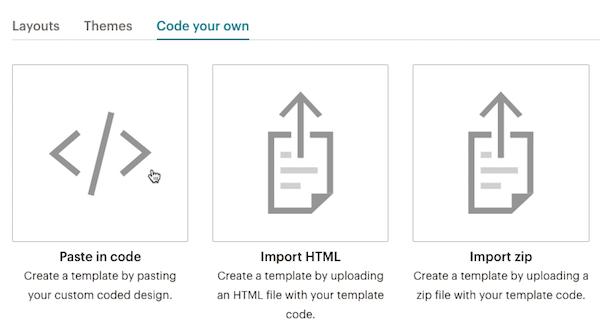 Opciones de Code your own