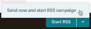 Haz clic en el botón StartRSS para iniciar la campaña RSS